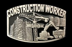 Construction Site Worker Crane Tools Occupation Metal Belt Buckle Buckles #construction #constructionworker #constructionsite #constructionworkerbuckle #constructionworkerbeltbuckle #beltbuckle #buckles