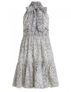 Zimmermann Caravan Bow Tiered Dress . Product Image.