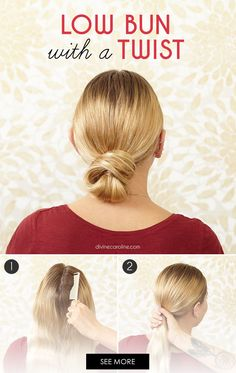 This chic low bun should be your new go-to for professional fall dinners and parties. #HairBun #Hairstyles