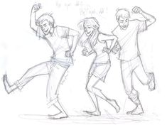 George, Fred, and Ginny's reaction after Harry's trial about the dementor attack.  The order of the Pheonix