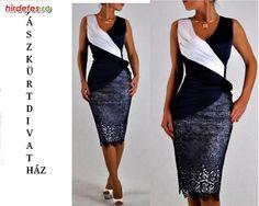 Gyönyörű női alkalmi. ruha kék-fehér, barna-bézs 38-50-ig - Ruha, Divat - Estélyi, koktél, kisestélyi