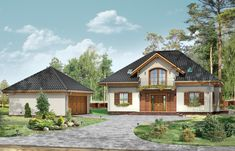 Projekt domu Filip Modern House Design, Home Fashion, House Plans, Farmhouse, Cabin, Mansions, House Styles, Home Decor, Ideas