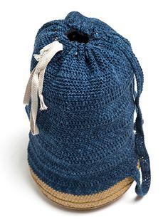 Blauwe tas met rieten bodem Catania Denim | Veritas BE