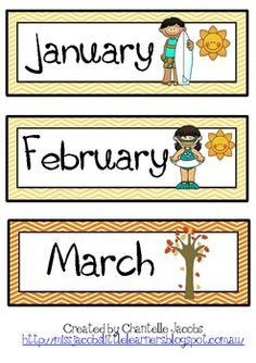 Months of the Year (Australian Seasons)