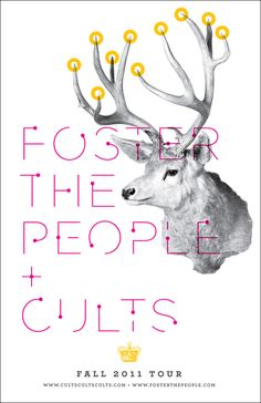 I love this and Foster the people! check out michael fusco design!