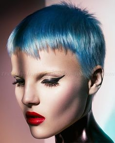 short+hairstyles,+short+haircut+-+blue+hair+color