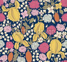 Dark Garden Secrets designed by Viktoryia Yakubouskaya, vector download available on patterndesigns.com