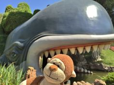 Uh oh! @Disneyland at the Storybook Land Canal Boat ride. #disney #disneyland #whale #danger #Monstro #beautifulday