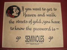 The password is 'Go Seminoles Go.' #FSU #Seminoles #Florida State