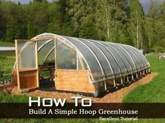 How to build a simple hoop greehouse