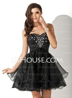 Homecoming Dresses - $133.99 - A-Line/Princess Sweetheart Short/Mini Organza Satin Homecoming Dress With Beading (022010565) http://jjshouse.com/A-Line-Princess-Sweetheart-Short-Mini-Organza-Satin-Homecoming-Dress-With-Beading-022010565-g10565