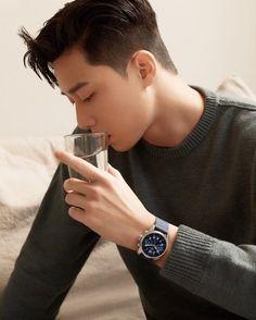 Asian Actors, Korean Actors, Korean Celebrities, Celebs, Asian Men Hairstyle, Asian Haircut, Park Seo Joon, Park Min Young, Cha Eun Woo