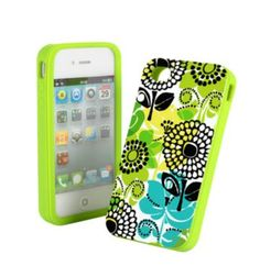 Vera Bradley Silicone Case in Lime's Up
