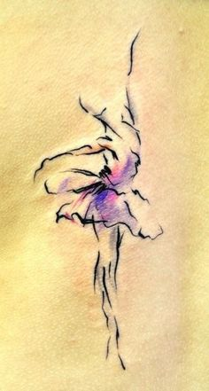 Watercolor figure..ink and a small wash. Try it!
