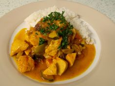 Jenny Eatwell's Rhubarb & Ginger: Chicken La Mancha - well this is something different!