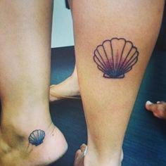 Small seashell tattoo