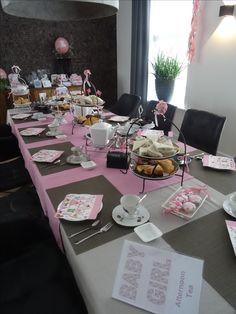 Afternoon Tea voor Babyshower meisje in Grootebroek