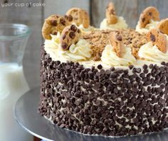 Easy Cookie Dough Cake