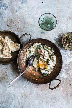 Aubergine Bowl with Poached Egg Food Photography Styling, Food Styling, Photography Projects, Good Food, Yummy Food, Tasty, Menu, Brunch Recipes, Breakfast Recipes