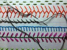 Take a Stitch Tuesday #12 - Barred Chain Stitch