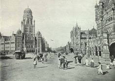 The Hub of Bombay - ca. 1905. Title and Description text is taken directly from the image captions in the book. India Illustrated. Special Collections, University of Houston Libraries (Public Domain).