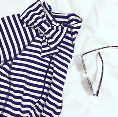 the bow neck jacket by kate spade new york and beyond yoga, as seen from @lizadams_