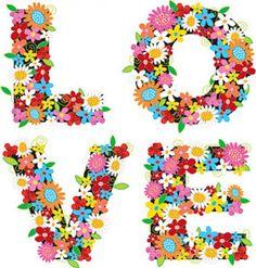 a composição de flores coloridas, o amor material vector