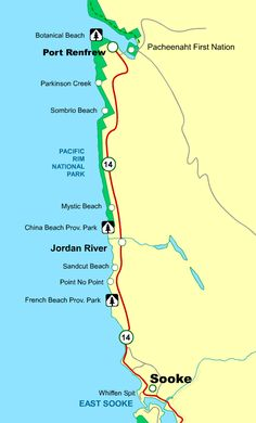 Map Vancouver Island Sooke to Port Renfrew BC. Need to plan a new adventure.