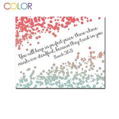 Printable ArtScripture Isaiah 263 8 x 10 Wall by ColorPrintables, $5.00