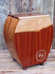 Simply beautiful wood cajon drum.