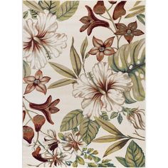 189.00 Tayse Rugs Capri Ivory 7 ft. 10 in. x 10 ft. 3 in. Transitional Area Rug