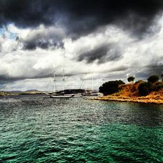 Boats under the angry clouds... Bodrum,Turkey - @jayhpho- #webstagram