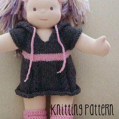 PATTERN Knitting Hoodie Sweater Dress  by TurtlekeeperDesigns
