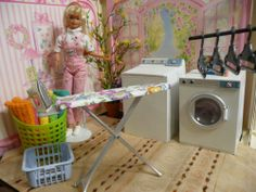 OOAK Barbie Laundry Room House Furniture Diorama Lot 1 6 Scale Miniature Plant | eBay Peppersbarbie is the BEST