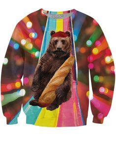 French Bear Crewneck Sweatshirt