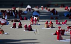 Red shoes, symbolising missing women, outside the state attorney's office during a demonstrationin Ciudad Juarez, Mexico on December 10, 2012. Relatives of missing women protested in Ciudad Juarez for the lack of progress in the investigations.  [Credit :Jesus Alcazar/AFP/Getty Images]
