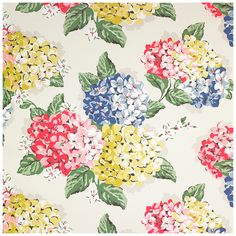 New CathKidston beautiful wallpaper. Hydrangea Wallpaper | Home | CathKidston