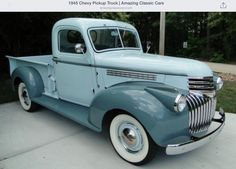 Vintage Trucks Classic 1945 Chevy Pick Up - Gmc Trucks, Chevy Pickup Trucks, Classic Chevy Trucks, Chevy Pickups, Chevrolet Trucks, Cool Trucks, Classic Cars, Pickup Camper, Gmc Suv