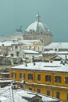 Rome in the snow.  Photograph by @Diane Haan Lohmeyer Epsteine