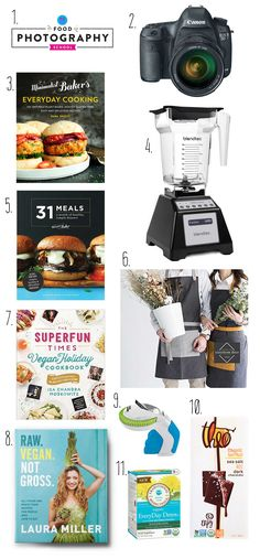 A gift guide for the foodie, cook, and aspiring blogger in your life.