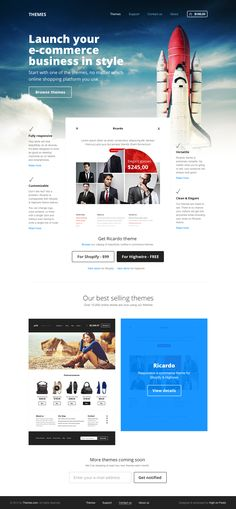 E-commerce themes by Pawel Kadysz   #web #design #inspiration