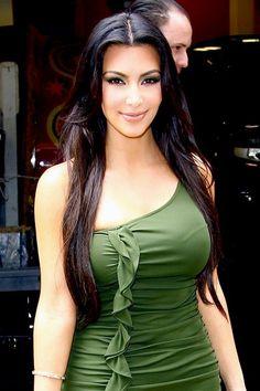 Kim Kardashian In Green