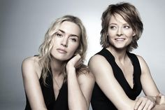 Kate Winslet and Jodie Foster by Max Vadukul