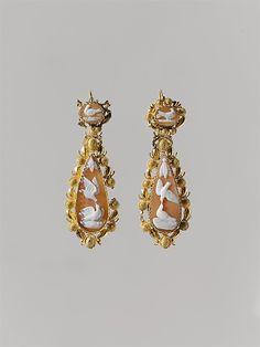 Pair of earrings (part of a set). Mid-19th century MET
