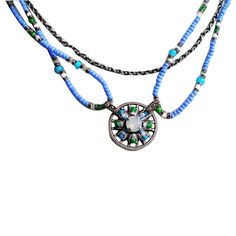 Konplott Dream Catcher Collier blau grün!