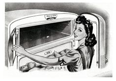Happiness is a defrosted refrigerator! ~ 1946.