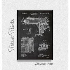 Gatling Machine Gun 1893 Patent Print