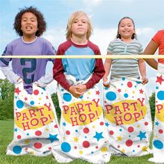 Golf Party Games, Game Party, Kids Party Hire, Sack Race, Toss Game, Animal Games, Outdoor Games, Animal Party, Party Themes