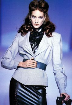 Valerie Jean Garduno Thierry Mugler Haute Couture F/W 1992 scan by #lexeecouture