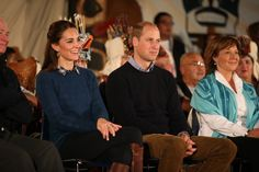 Kate Middleton Looks Like Grace Personified on the Royal Tour of Canada  She removed her coat inside to reveal a collared button-up and sweater — and a coordinating style moment with Prince William.